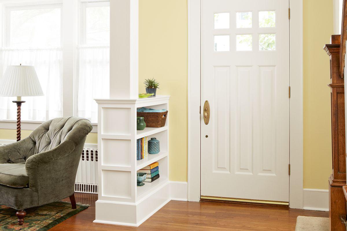 Column room divider at home entrance.