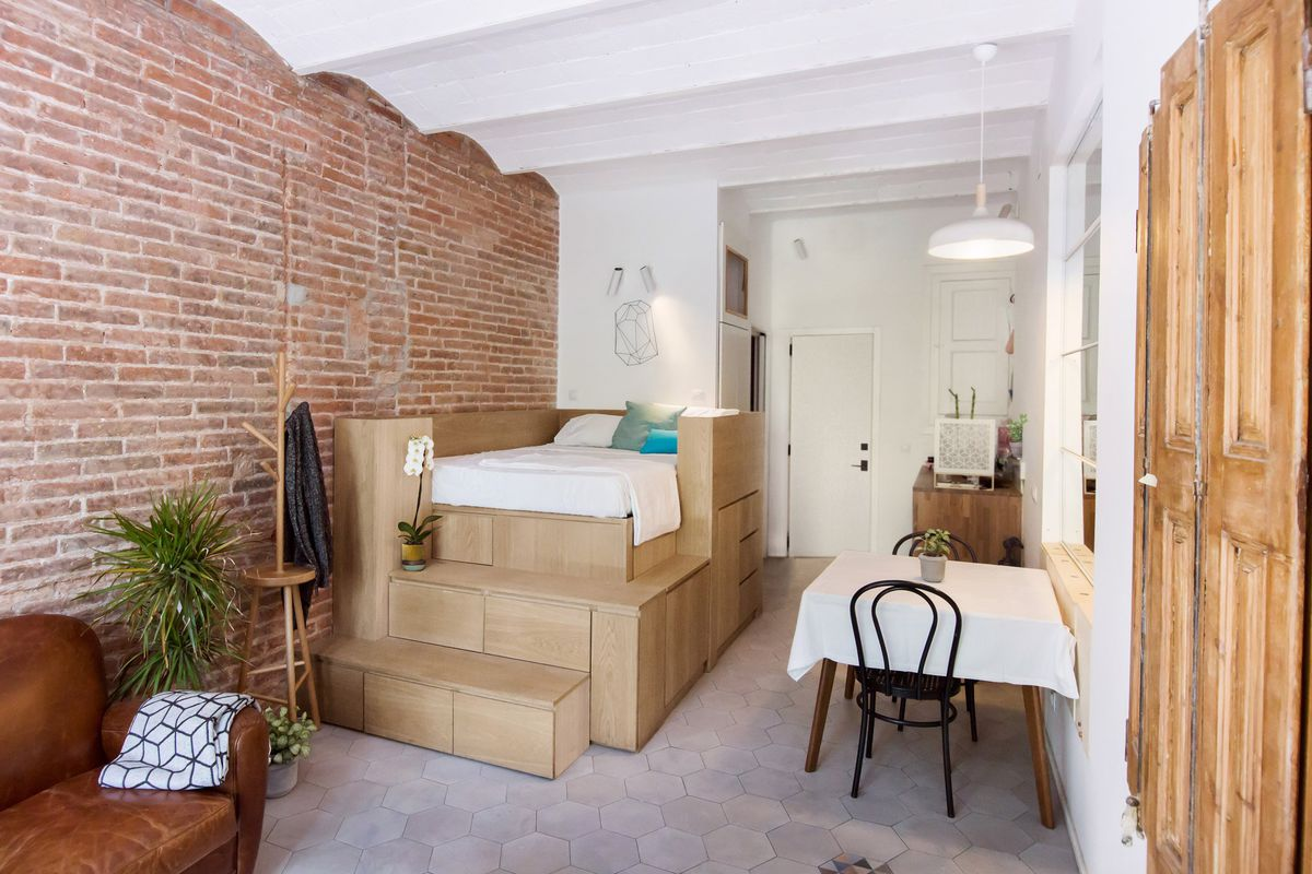 Tiny Apartment Does It All With Tricked Out Bed And