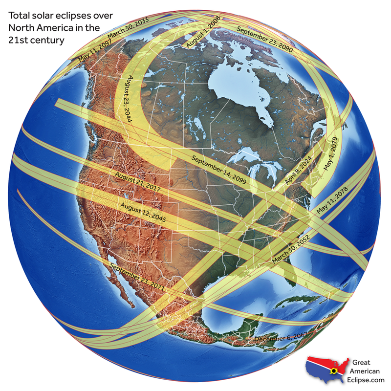 Did You Miss Yesterdays Total Solar Eclipse Heres Your Next - Us solar eclipse map