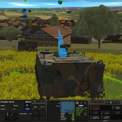 Early screenshots from Combat Mission: Cold War show a mixture of near-final unit textures and placeholder terrain.