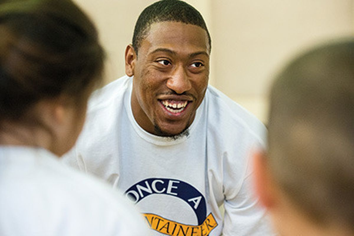 Super Bowl Champion Bruce Irvin at the 2014 Once a Mountaineer, Always a Mountaineer Event