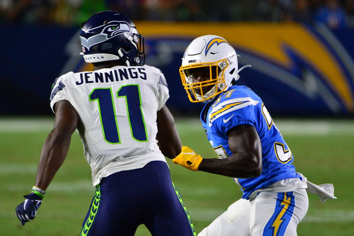How did the rookies for the Seattle Seahawks play against the Chargers?