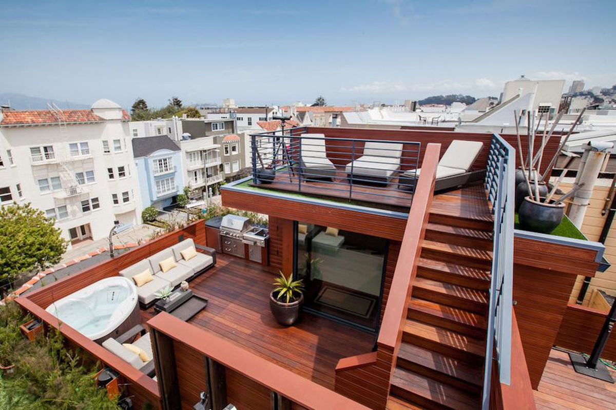 Most ridiculous roof deck in sf for rent apartment for Idea jardineria terraza balcon