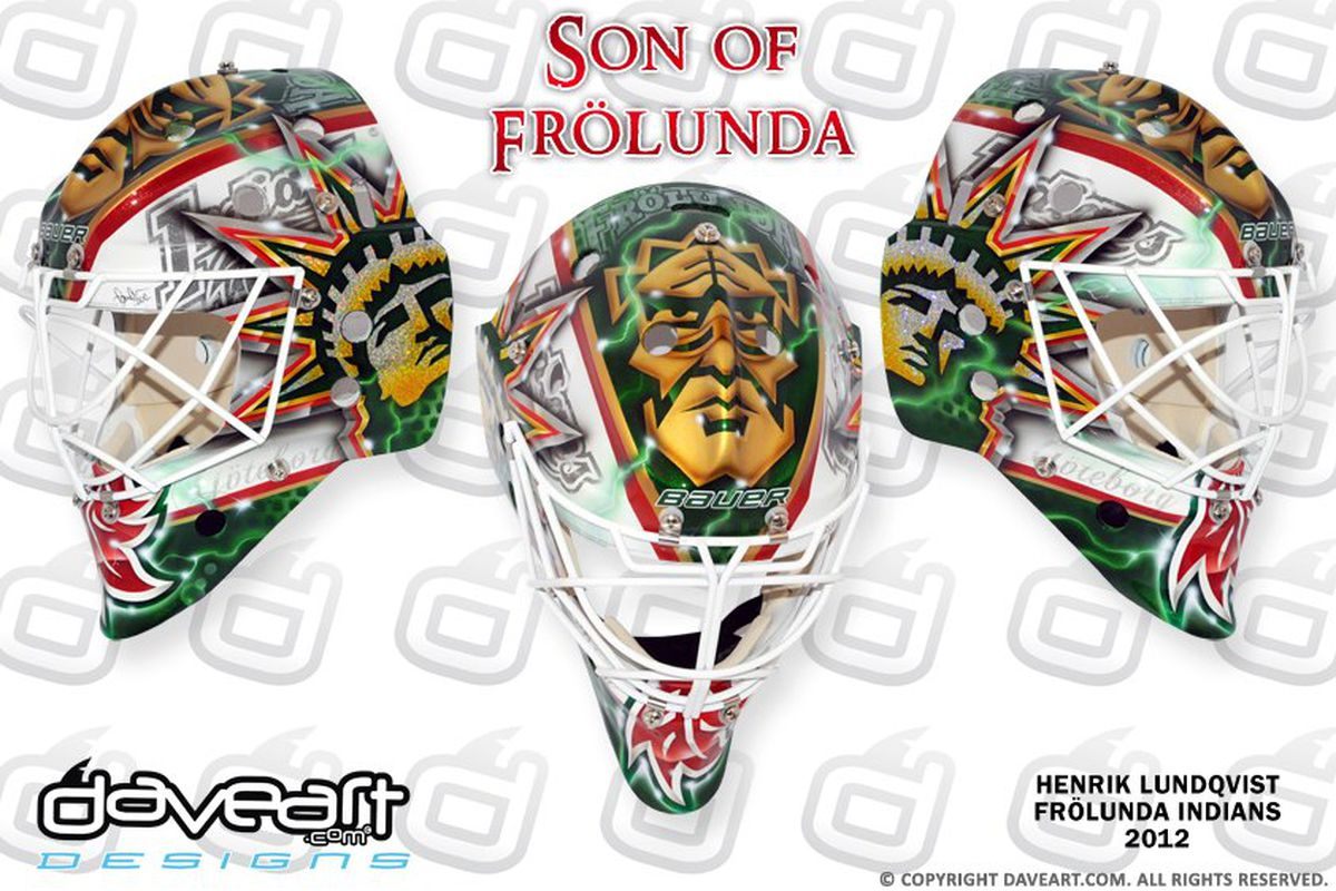 Henrik Lundqvist S New Mask Is Incredible Sbnation Com