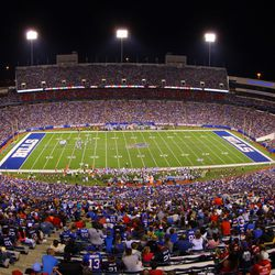 Aug 16, 2013; Orchard Park, NY, USA;  A general view of  Ralph Wilson Stadium during a game between the Buffalo Bills and the Minnesota Vikings.  Buffalo defeats Minnesota 20 to 16.