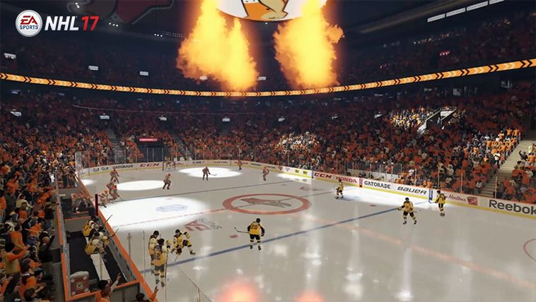 An NHL-size arena in NHL 17