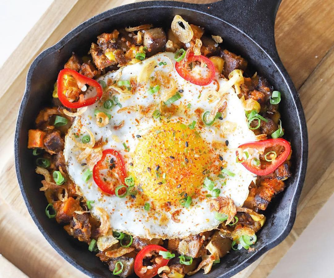 A brunch dish from Peached Tortilla