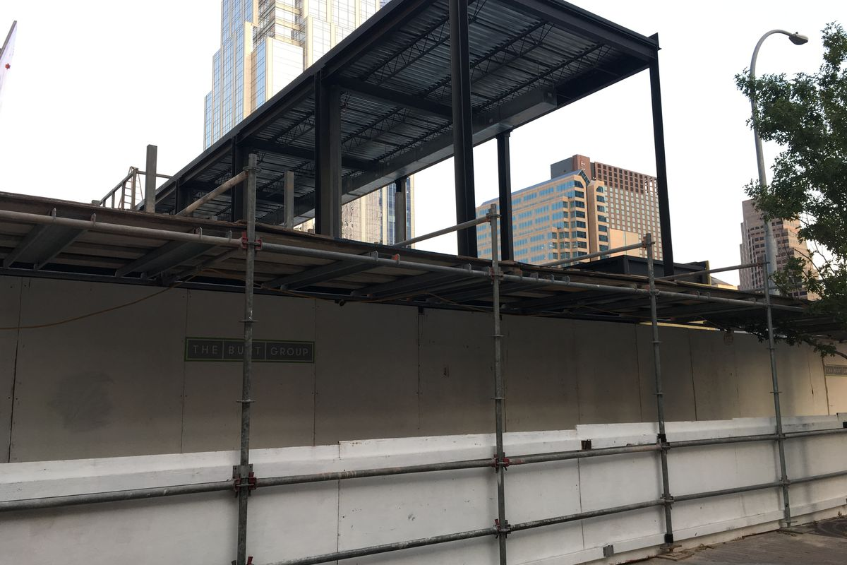 Plywood for Philip Speer and William Ball's downtown restaurant