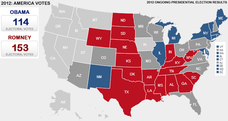 Presidential Election Vote Maps Gallery Cageside Seats - Us map by electoral vote