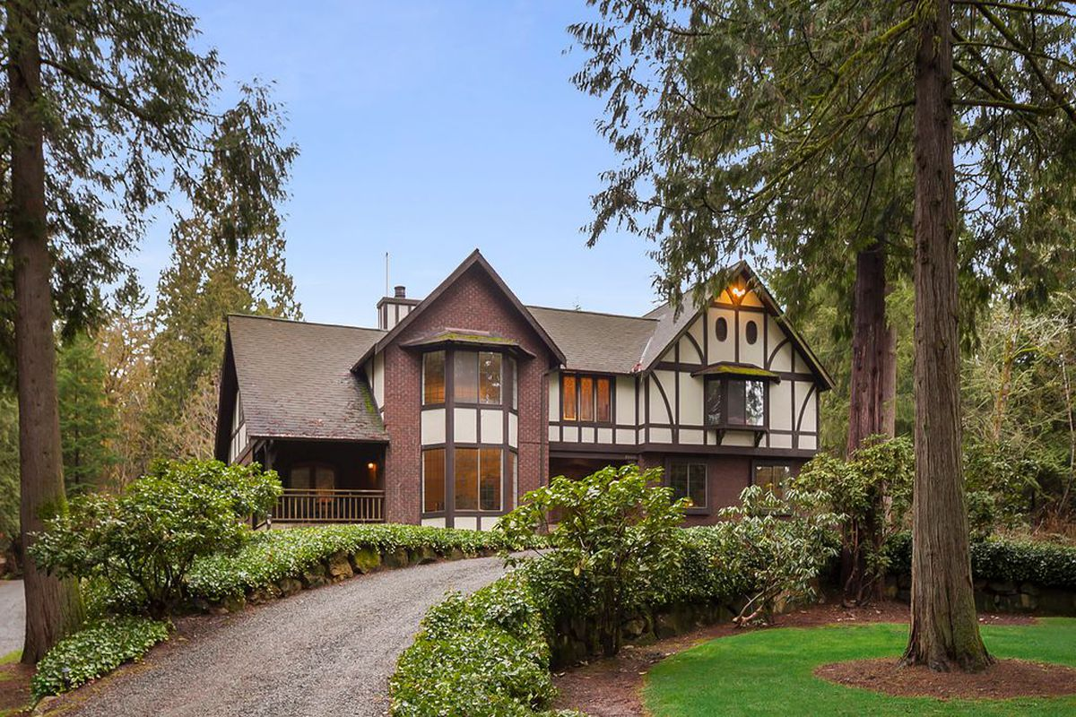 settle into country comforts in a woodinville tudor curbed seattle