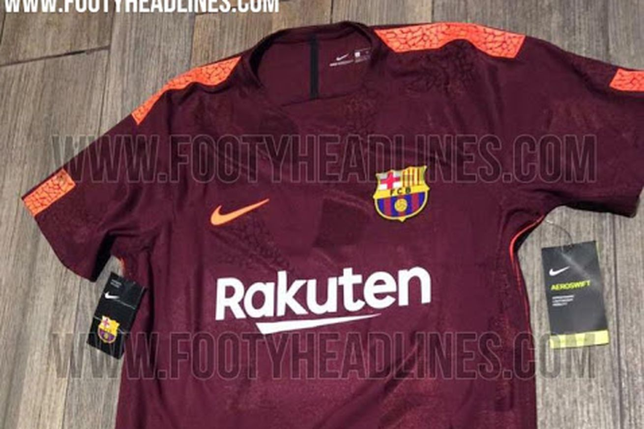 dd3847cdeaf New pictures of Barcelona's 2017-18 third kit leaked | FC Barcelona ...