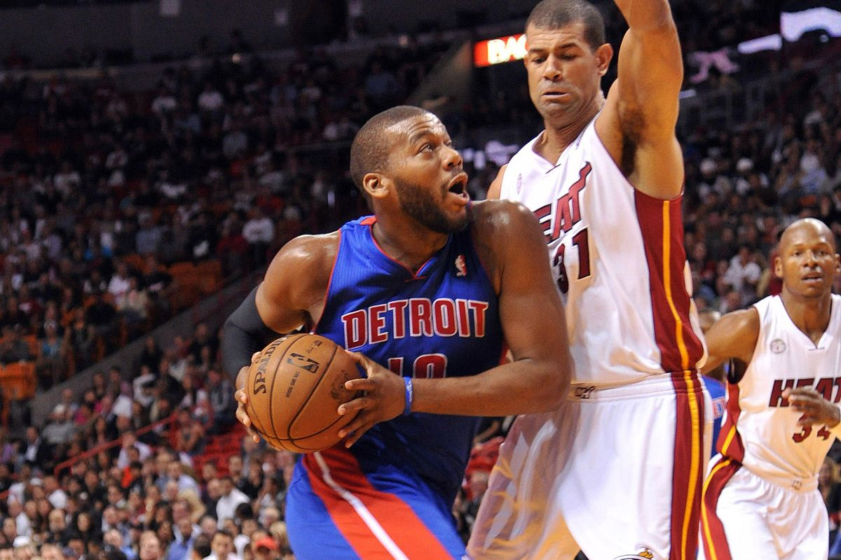The Pistons will need a huge night from Greg Monroe to stop the torrent Miami Heat.