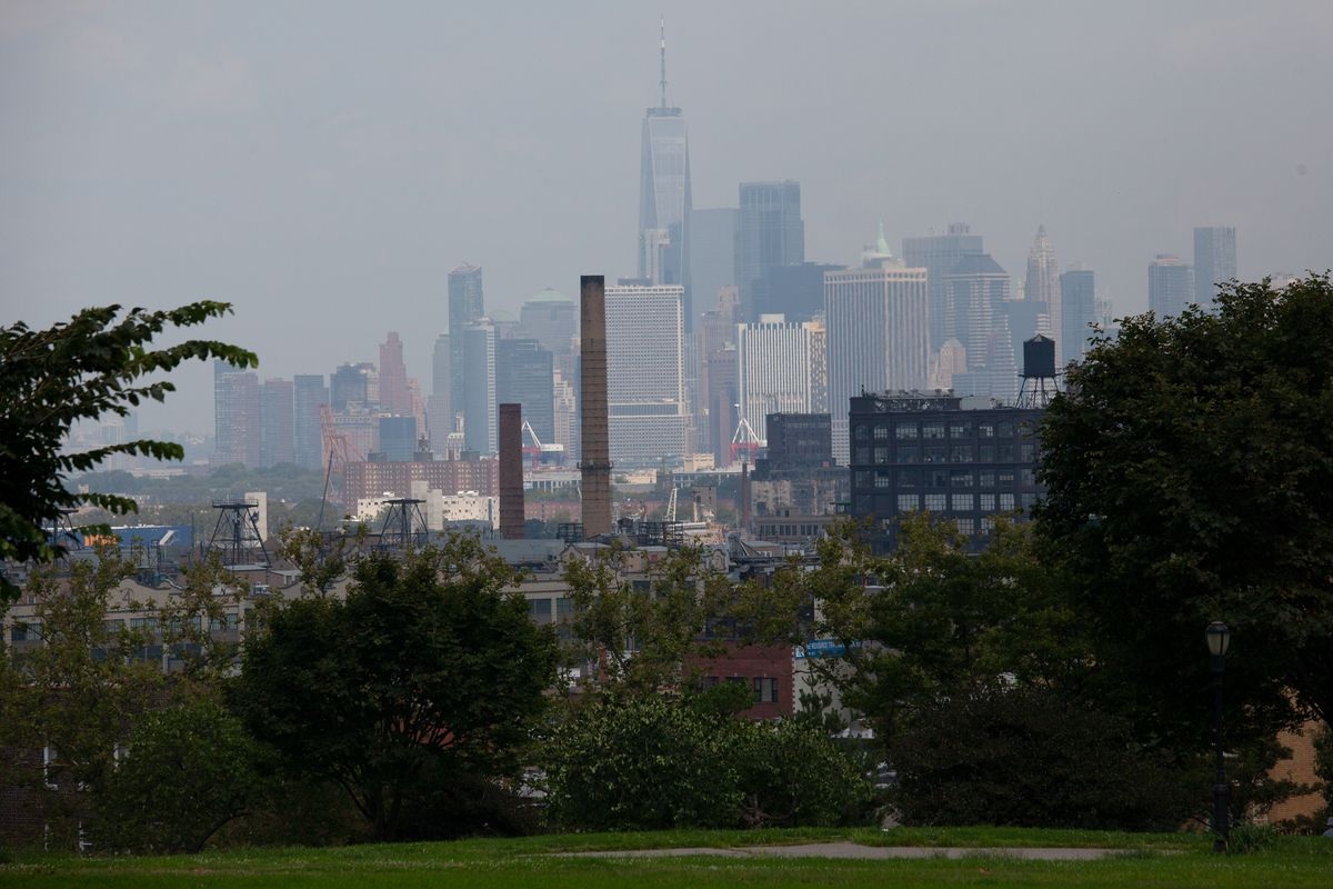 A hazy, hot August day during the coronavirus outbreak.
