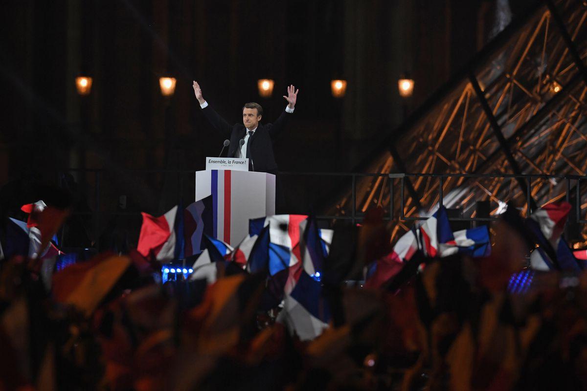 Emmanuel Macron Celebrates His Presidential Election Victory At Le Louvre In Paris