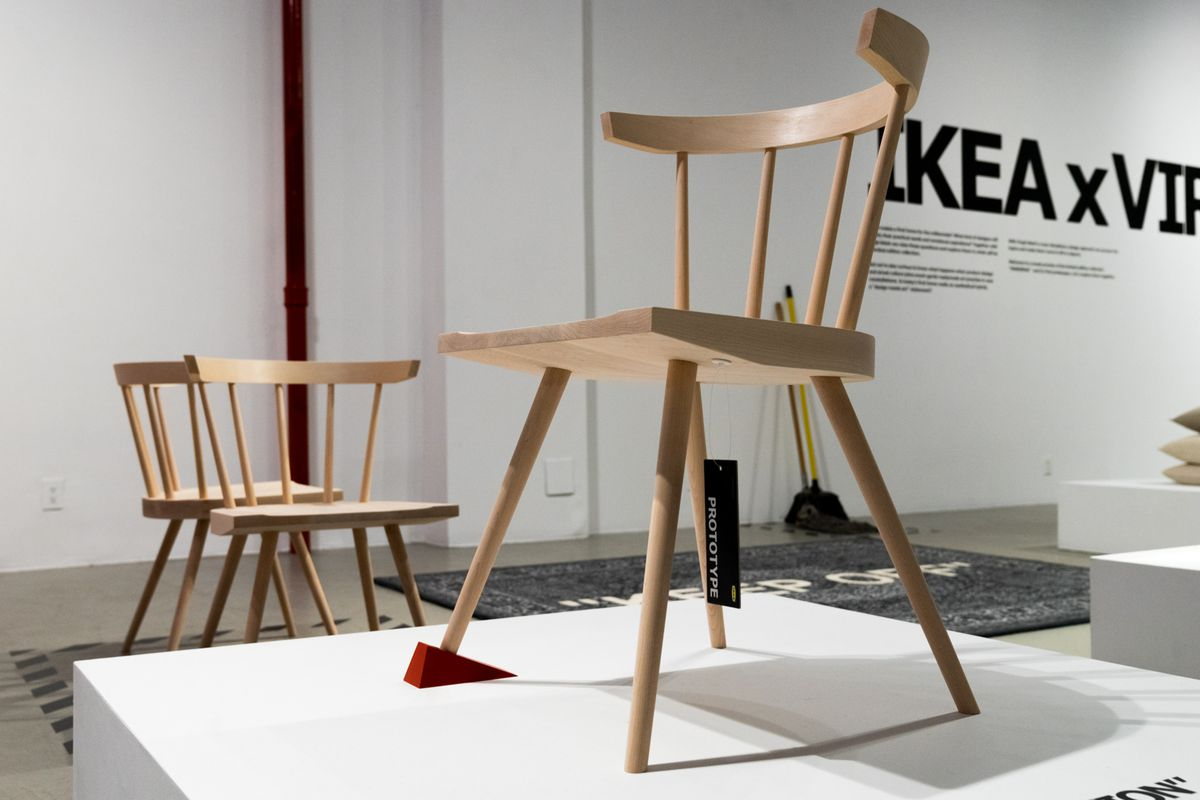 ikea and virgil abloh preview markerad collection curbed. Black Bedroom Furniture Sets. Home Design Ideas