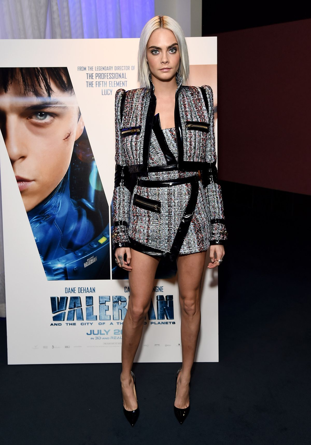 Actress Cara Delevingne attends the trailer viewing of 'Valerian and The City of a Thousand Planets' on March 27, 2017 in Los Angeles, California.