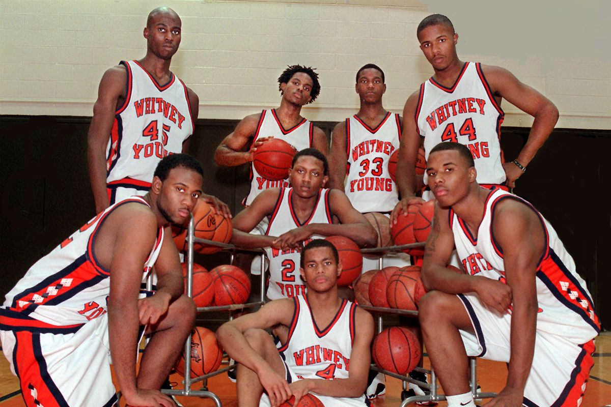 1998 Young. (Kneeling or sitting) Left to right.....Reginald Jones, #4 Cordell Henry, Dennis Gates, behind Henry, and far right Quentin Richardson. Standing, left to right Marquis Wright, Kristopher Clemmons, Najeeb Echols, and Corey Harris.