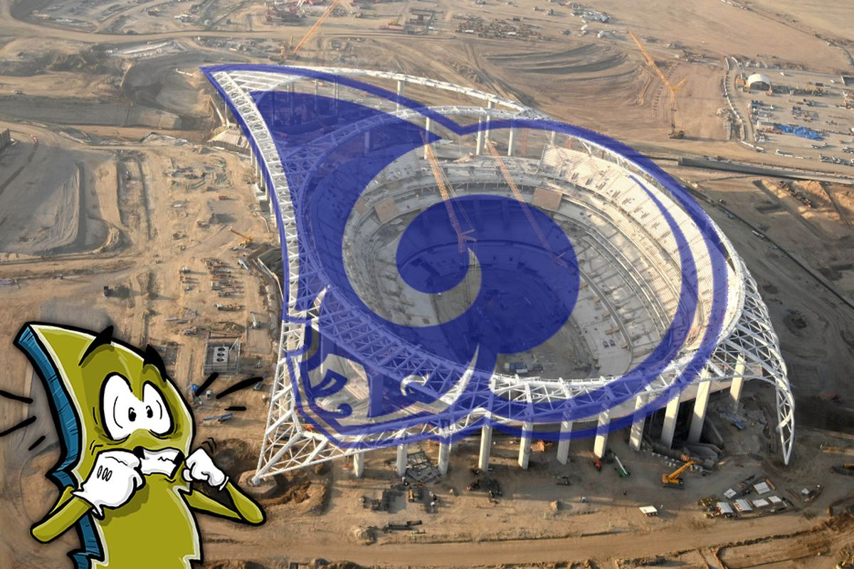 Stadium Talk Does Sofi Stadium Look Like The Rams Logo Bolts From The Blue