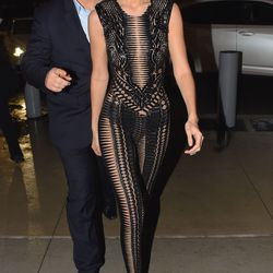 2/16: Arriving to the Carine Roitfeld party. Photo: Fame Flynet.