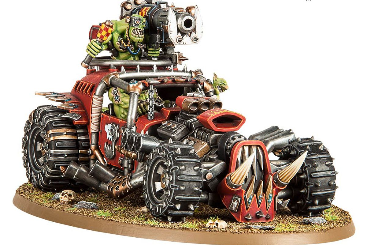 The Kustom Boosta-Blasta which is exclusive to the Speed Freeks standalone game set in the Warhammer 40,000 universe.