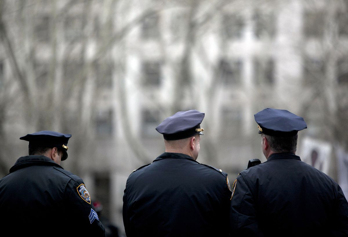 Police officers in New York City.