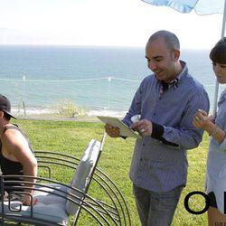 Designer Bruno Schiavi with stylist Jenny Bernheim.