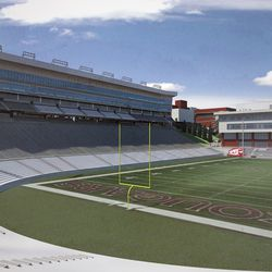 View from East End of Martin Stadium