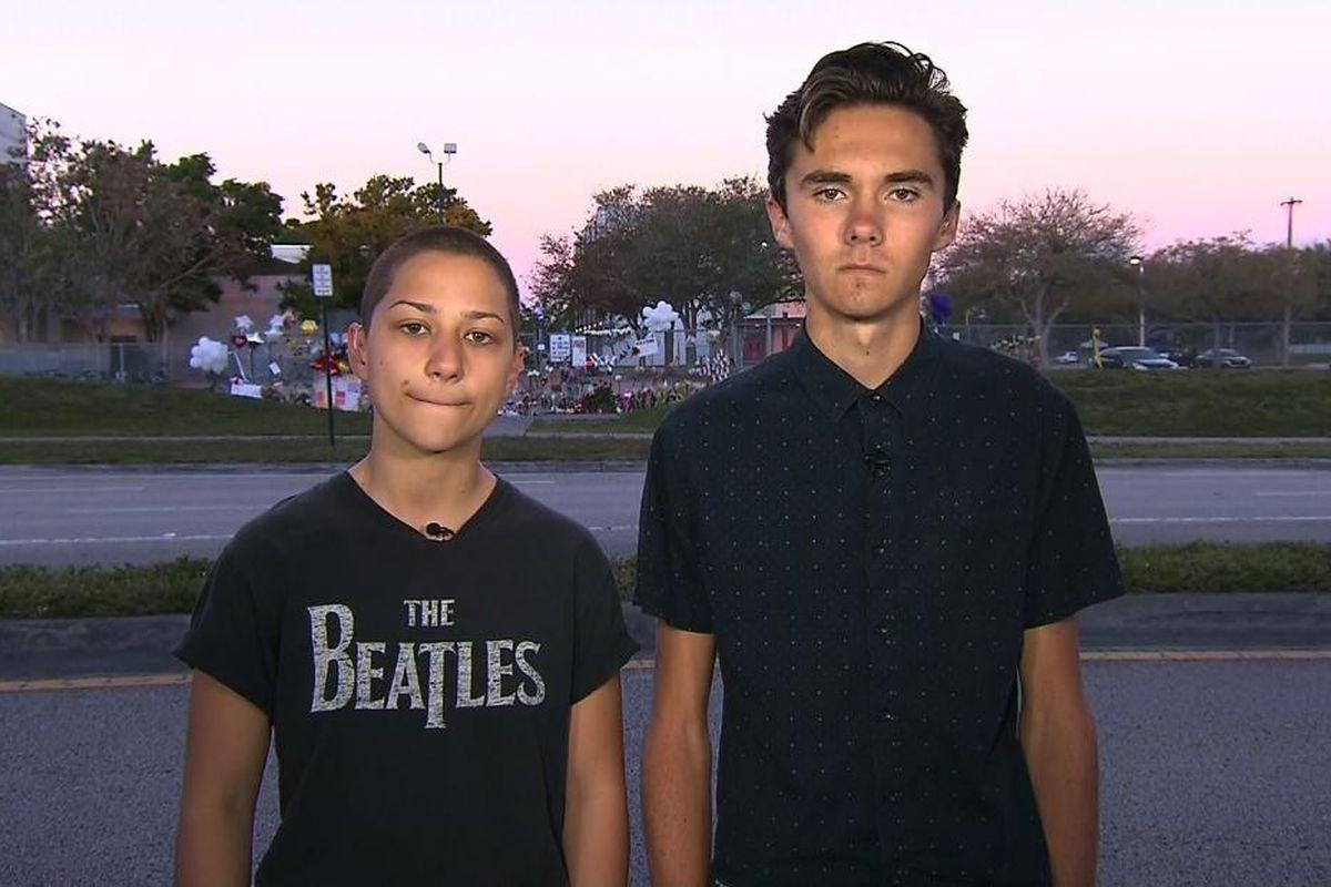 Emma Gonzalez and David Hogg, survivors of the recent high-school shooting in Parkland, Fla.