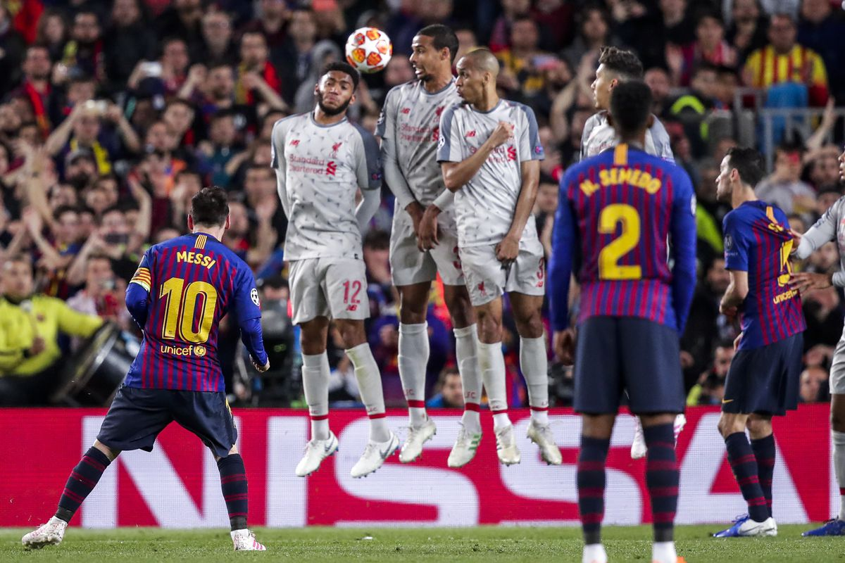 Kwallon da Messi ya ci Liverpool daga bugun tazara