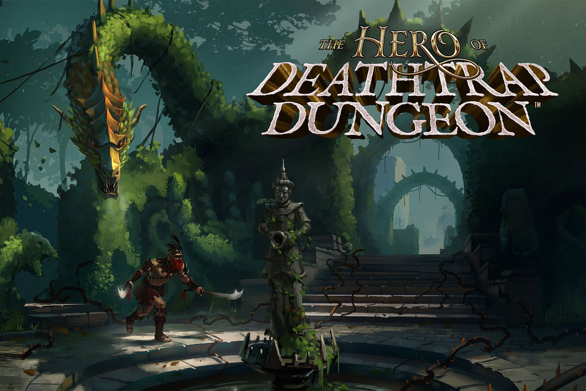 Key art produced for the Fig campaign to fund The Hero of Deathtrap Dungeon