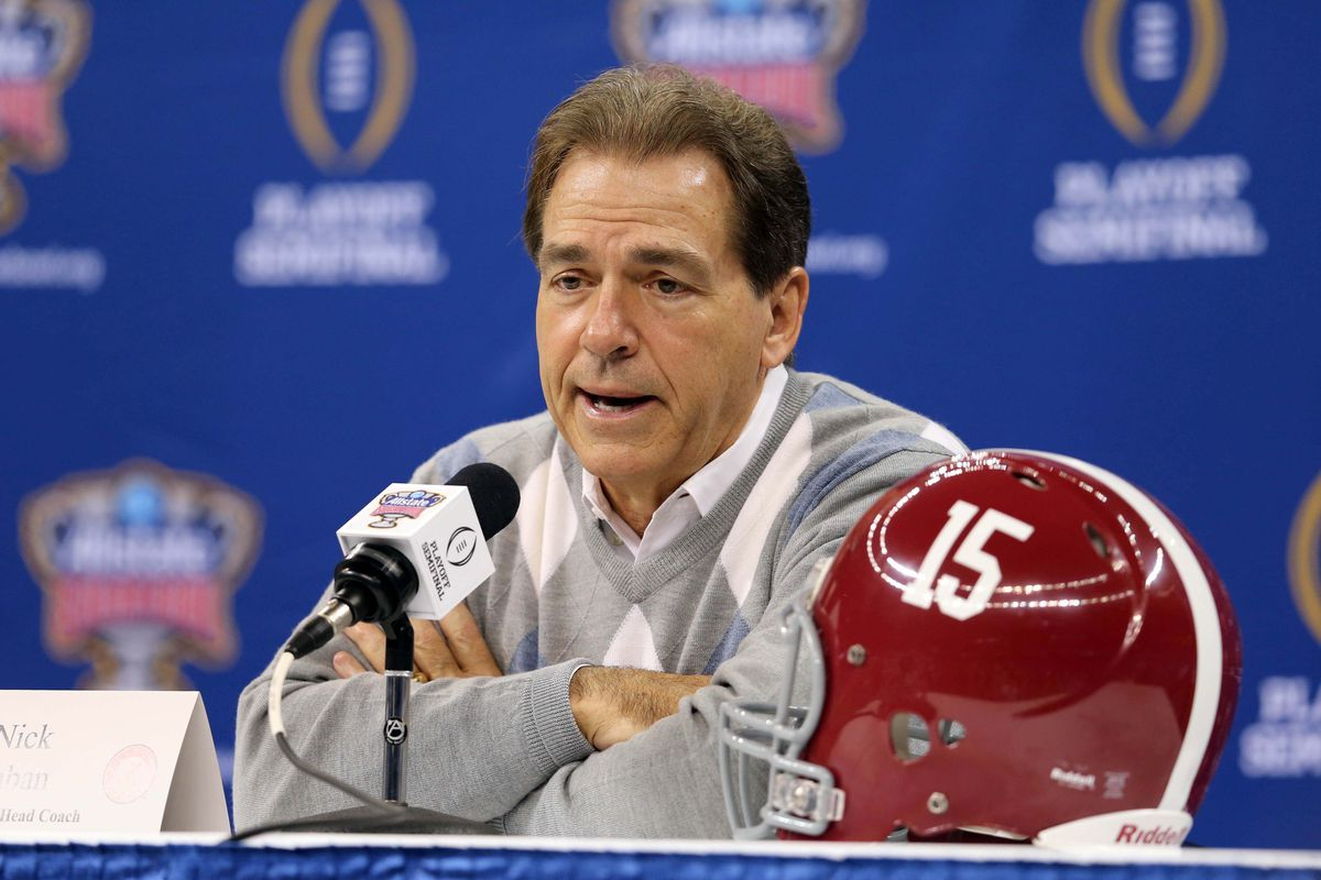 Nick Saban and his Alabama Crimson Tide are the top-ranked team in the inaugural College Football Playoffs.