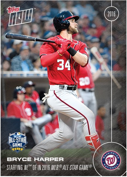 Bryce Harper 2016 Topps Now Card 233 Available Until 1