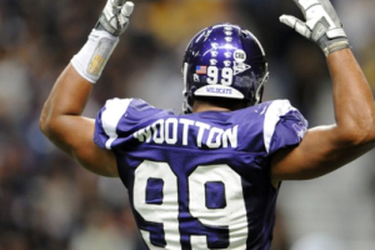 A possible selection for the Jets in the second round. Northwestern DE, Corey Wootton.