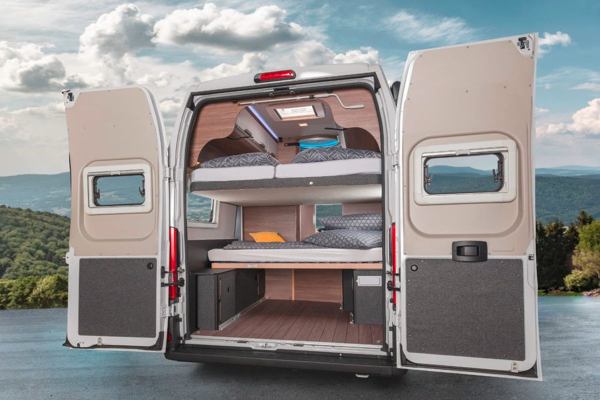 Picture of: Camper Van Sleeps 7 With Lift Away Beds Curbed