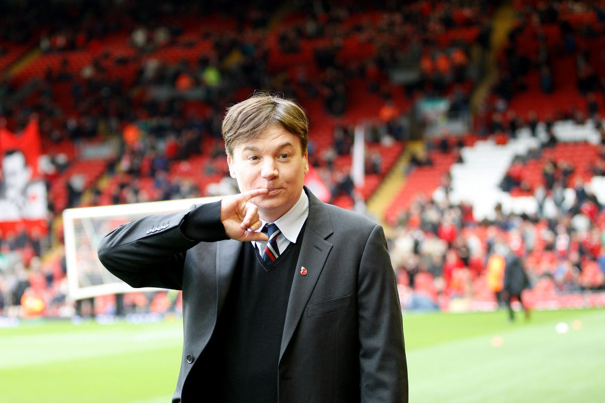 Soccer - Barclays Premier League -Liverpool v Fulham, Anfield, Liverpool Actor and film star Mike Myers at Anfield