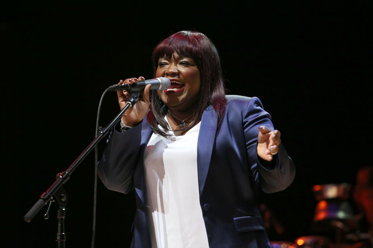 """Shemekia Copeland performs at the 2018 """"Across The Great Divide"""" benefit concert in Los Angeles."""
