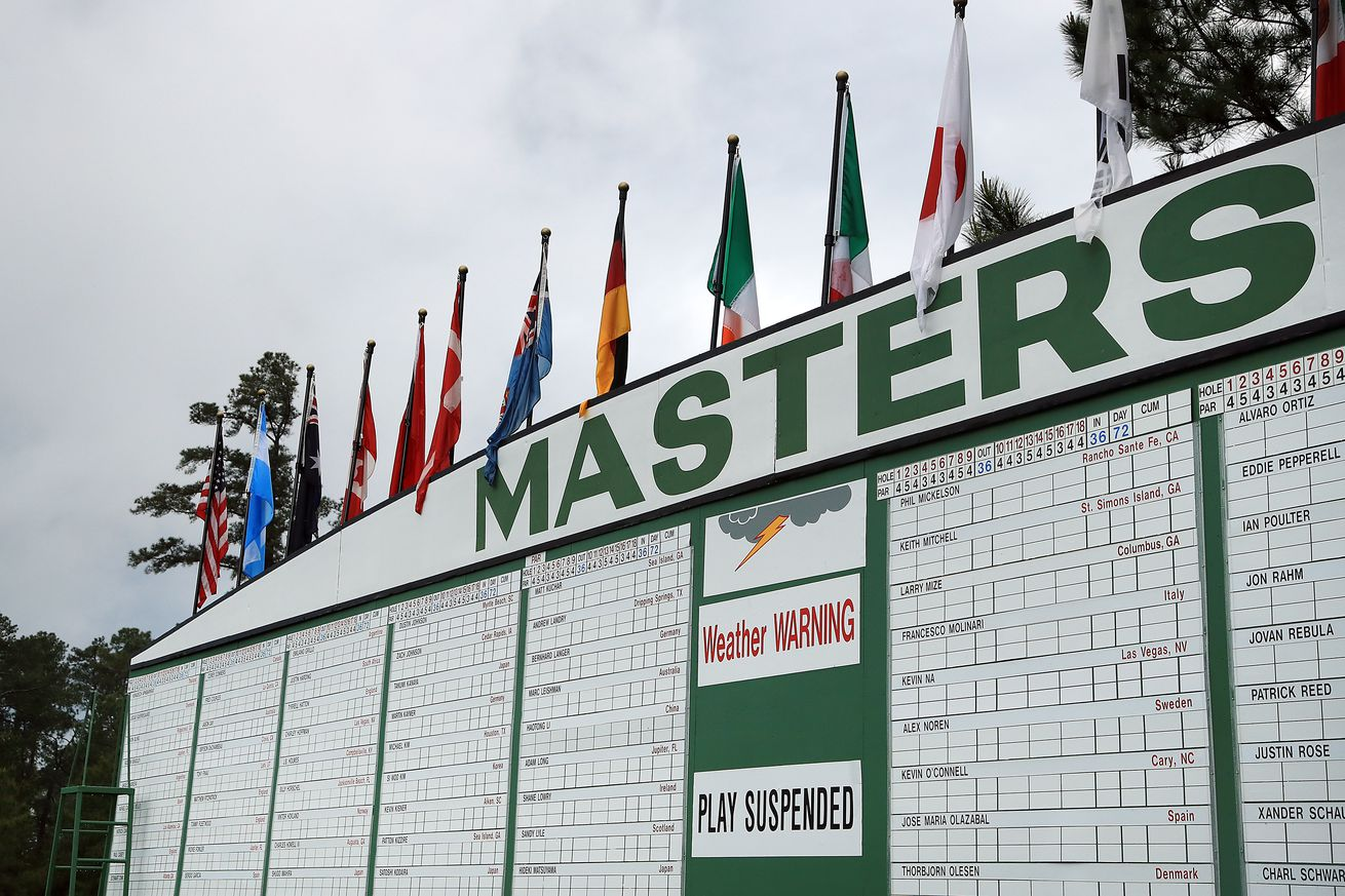 The weather warnings have been posted on multiple occasions this week at the Masters.