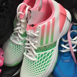 Adidas sneakers, size 7.5, $59.95 (from $119.95)