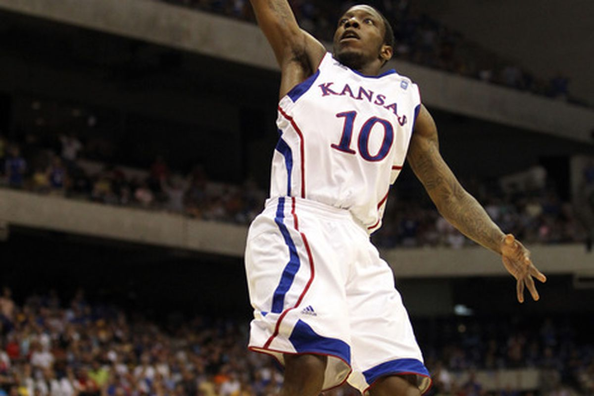 KU's Tyshawn Taylor will have to raise his 35% from the floor for the Jayhawks to succeed. (Photo by Ronald Martinez/Getty Images)