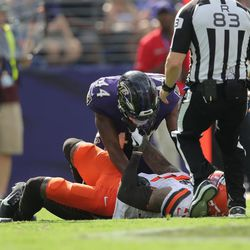 September 2019: During the Ravens vs. Browns game, a side storyline came with a fight between WR Odell Beckham and CB Marlon Humphrey, as Humphrey appeared to be choking Beckham on the ground. No flag was thrown for that, and the Ravens' website later released a pretty comical video trying to explain why it was not a choke.