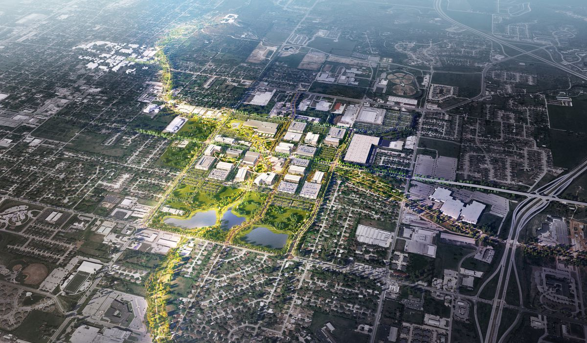 Why Walmart is turning its new headquarters into a walkable town square -  Curbed