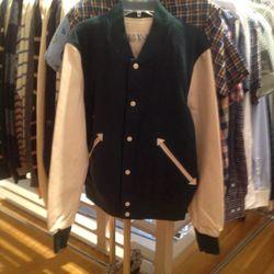 Varsity jacket, $250