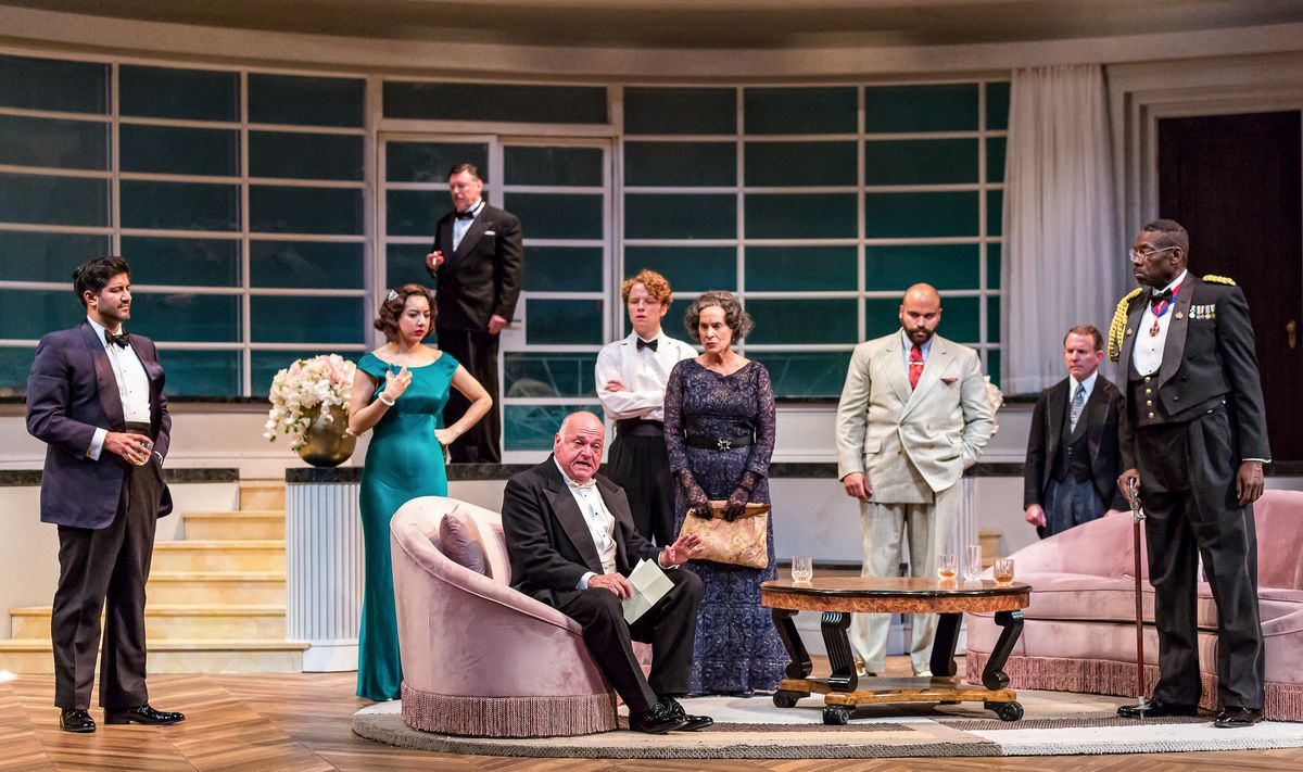 """The cast of """"And Then There Were None"""" at Drury Lane Theatre."""