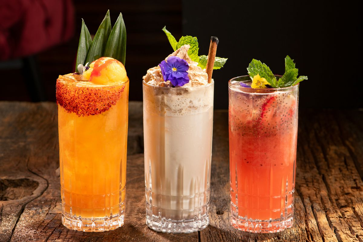Three cocktails in a row.