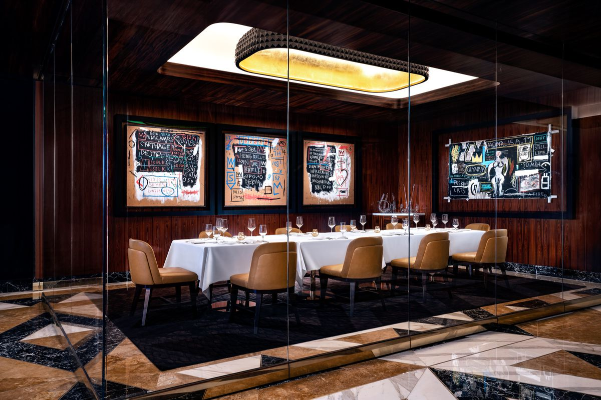 The private dining room at Scotch 80 Prime