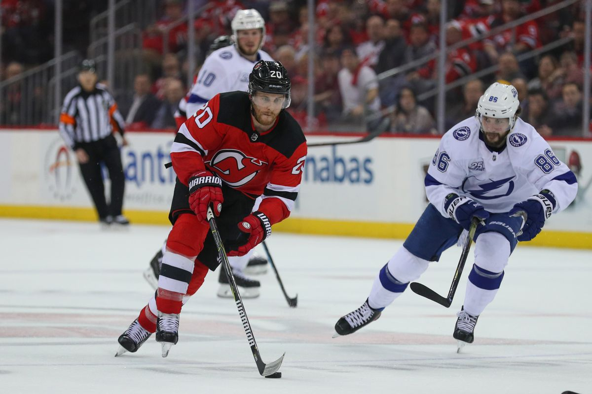timeless design 3fc2c a17b5 Blake Coleman re-signs with New Jersey Devils - All About ...