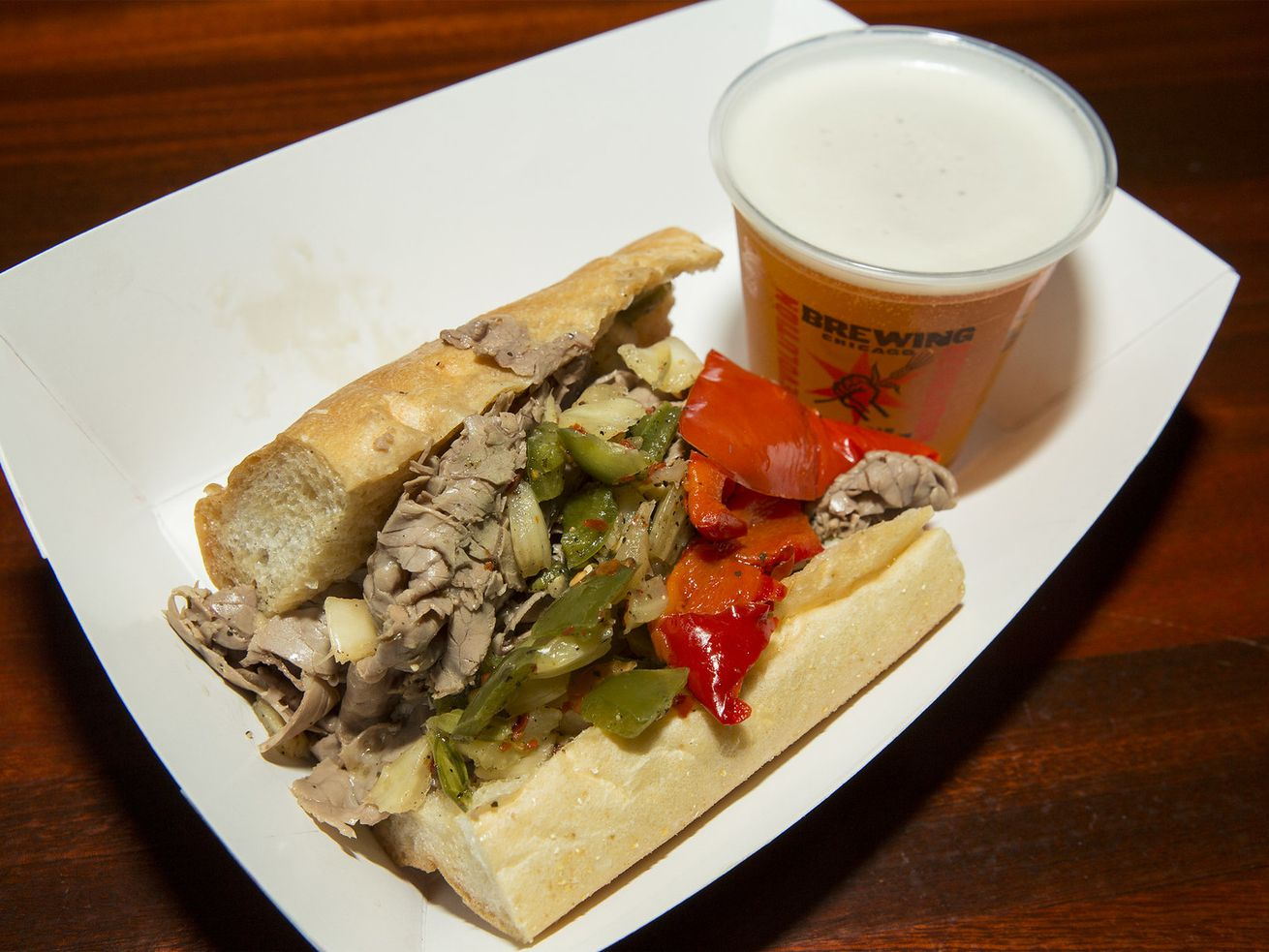 Italian beef sandwiches and beer are popular in Chicago.