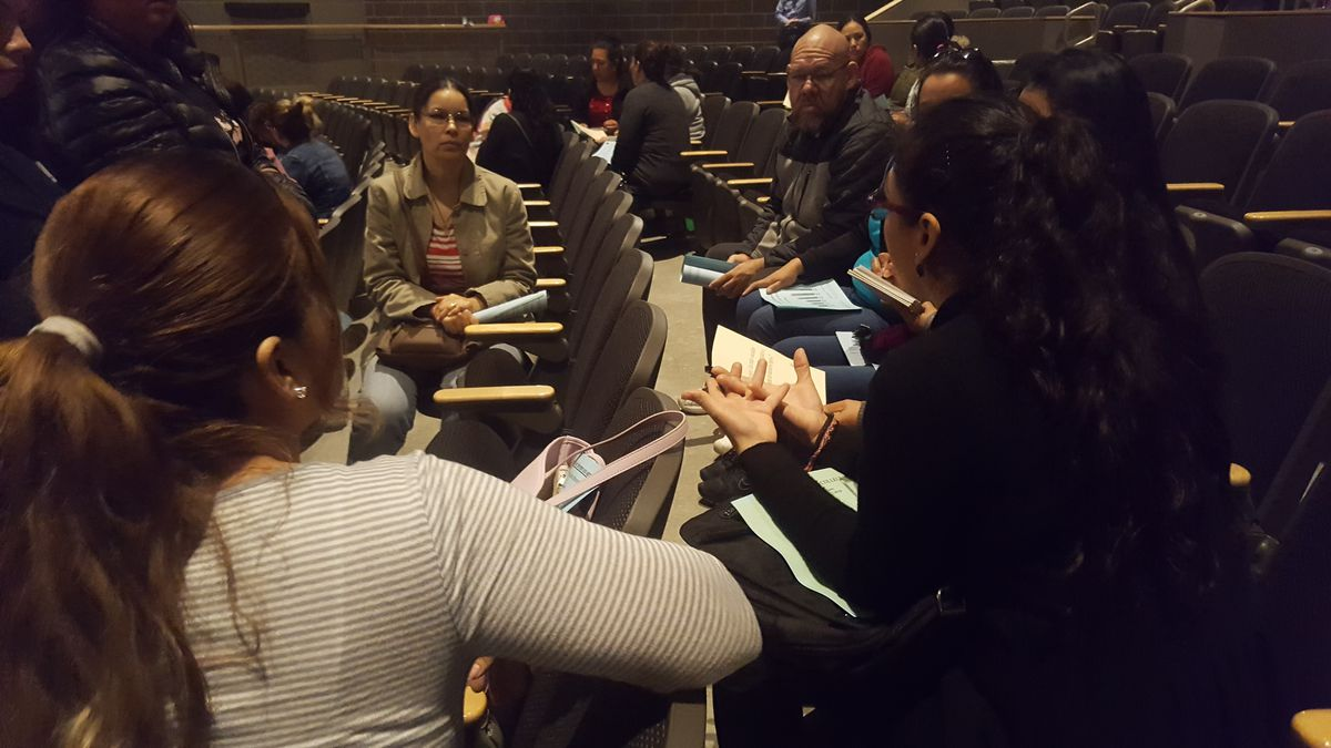 Parents during the launch of the PASS program at Westminster High School.