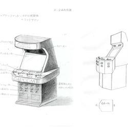 Arcade cabinet design displaying how a 4-player machine works