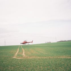 Helicopter over the race